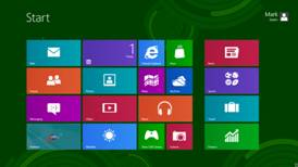 A screenshot of Windows 8's Metro interface.