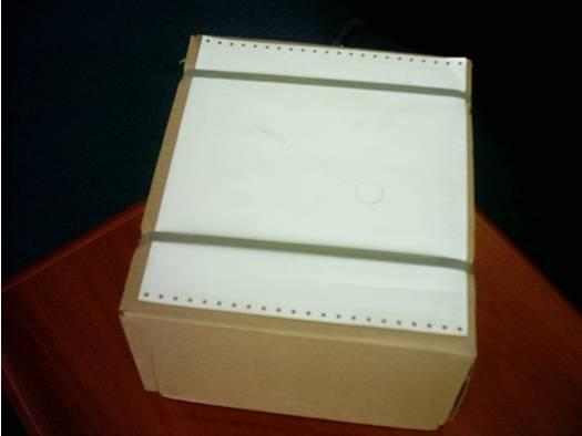 صورة لصندوق ورق برايل